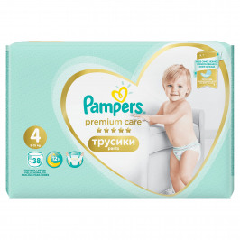PAMPERS Premium Care Pants 4 MAXI (9-15 kg) 38 ks Value Pack – plenkové kalhotky
